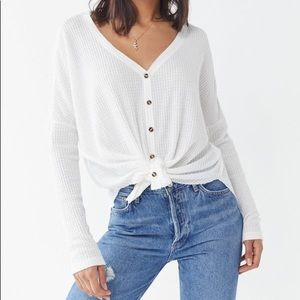 Out Front Under Jojo Oversized Thermal Button Top